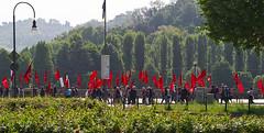 Rosso sul lungo fiume (Leica_m_shooter) Tags: people torino march workers gente politics marcia flags turin politica bandiere manifestazione drapeaux firstofmay primomaggio parata lavoratori 1maggio premiermai 1°maggio manisìfestation
