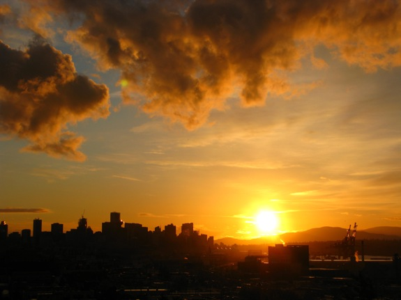 yellow sunset vancouver