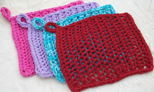Alabama relief dishcloth 4 of the double stranded stacked