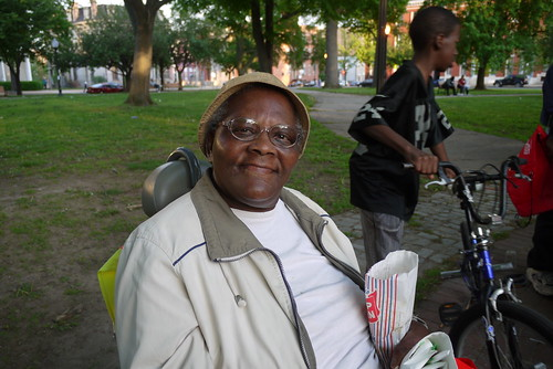 Resident of St. James Terrace at the West Baltimore Squares Spring Celebration