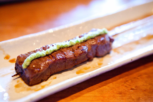 Kobe beef with wasabi