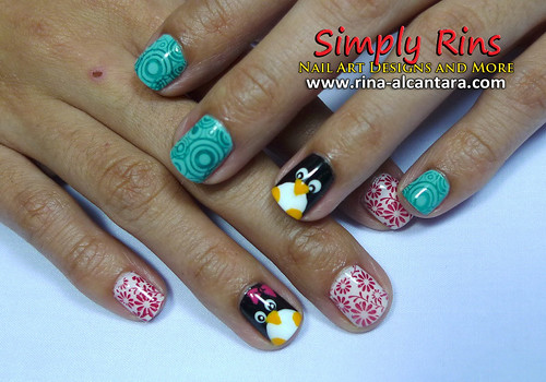 Nail Art Penguin 03