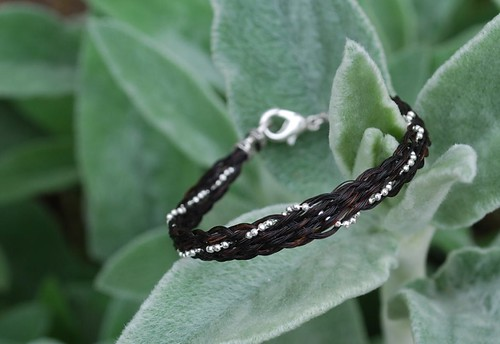 Black and Silver on Mullein by Red Tail Designs
