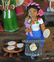 Happy Mothers Day (Teyacapan) Tags: ceramica cooking mexico child crafts artesanias mother pottery tortillas madre ocotlan metate