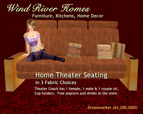 Home Theater Seating - Tan Leather by Teal Freenote
