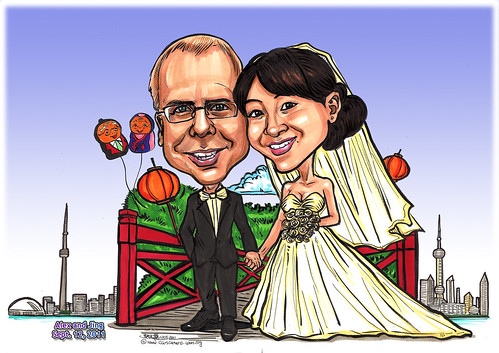 Couple wedding caricatures at Toronto Shanghai - A4 (edited)