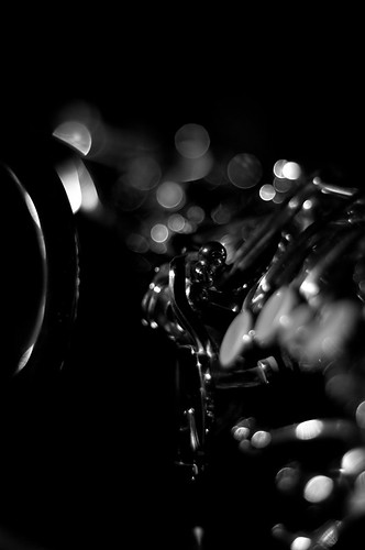 Alto sax in b&w # 3 by Gabriel Massera