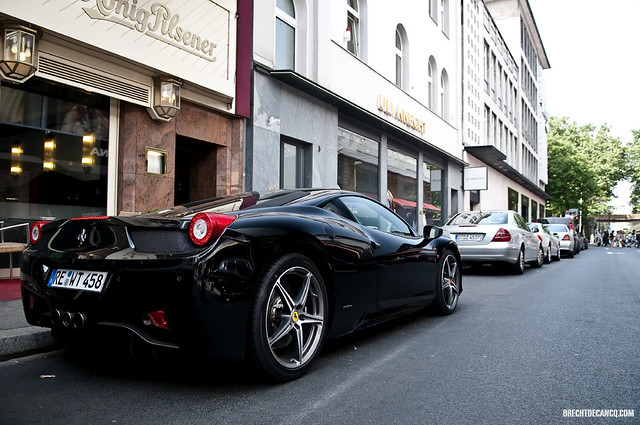 ferrari 458 italia düsseldorf 2011 nikon d300 brecht decancq black germany italian supercar wwwbrechtdecancqcom