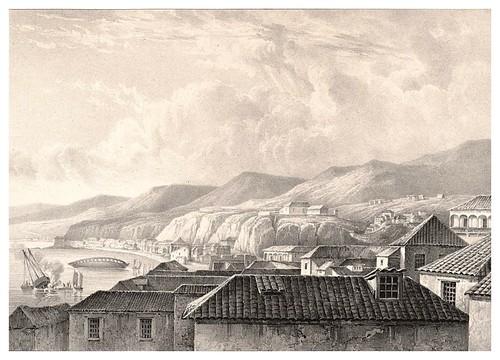 012-Vista de Valparaiso desde el sur-Chile-Journal de la navigation autour du globe… 1837-Barón de Bouganville-fuente BOTANICUS