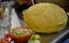 Chola Bhatura - at Darshan (Love the puffed up bhatura here) (Manish Parekh Photography) Tags: food india pune darshan chola bhatura batura choley