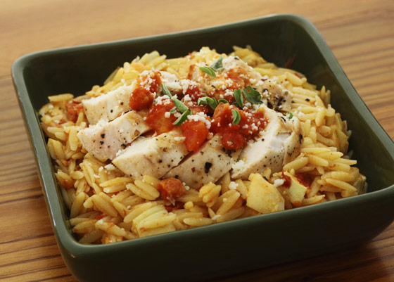 Chicken & sun-dried tomato orzo