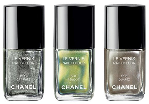 Chanel Graphite, Peridot, Quartz