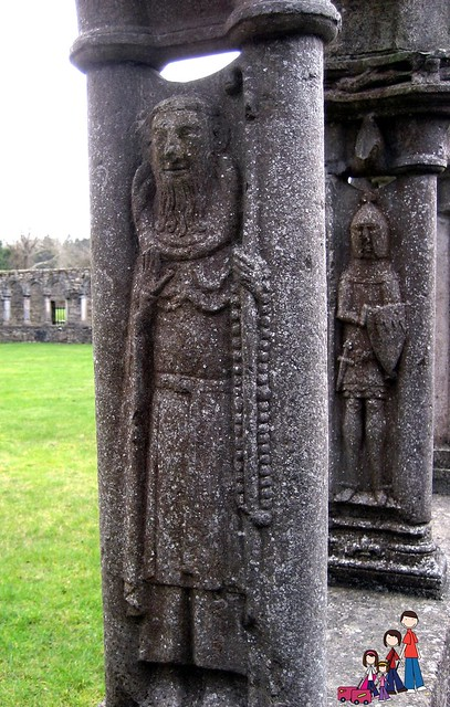 Carvings in the cloister at Jerpoint Abbey, County Kilkenny, Ireland