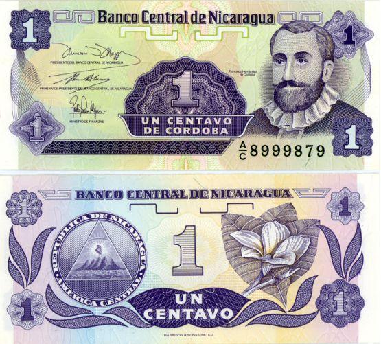 1 Centavo Nikaragua 1991, Pick 167