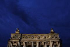 Palais Garnier, Paris, France (Kyle Slattery) Tags: sky paris france building night opera palaisgarnier