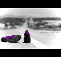 If the shoe fits buy it in every colour! (*karla) Tags: road pink canon 50mm shoes dof bokeh