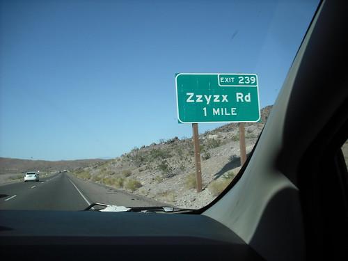 ZZyzx Road :o)