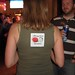 An avid fan wears our sticker!