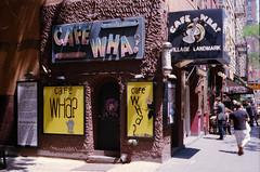 Cafe Wha? (karstenphoto) Tags: kodak ektar cafe wha cafewha new york ny nyc bigapple analog film ishootfilm filmisnotdead contax g2 zeiss