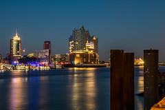 Hamburg - Elbphilharmonie at Dusk (superbart77) Tags: dusk elbe elbphilharmonie hdr hafen hafencity hamburg harbour river sunset