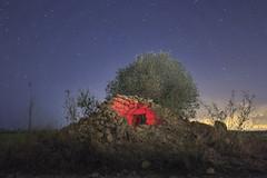 The old hut (eztopo79) Tags: hut barraca stars night nocturna girona torroellademontgri canon 70d sigma 1020 abandoned ruins