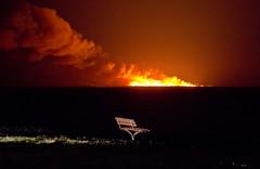 Bush fire at Jervis Bay (PhilliB123) Tags: canon 600d t3i tamron 70300mm bush fire jervis bay night gerroa nsw southcoast