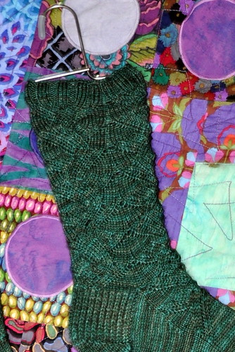 ripple leaf socks