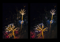 Whizzkids :: Cross Eye 3D Fireworks :: (Stereotron) Tags: 3d 3dphoto 3dstereo 3rddimension spatial stereo stereo3d stereophoto stereophotography stereoscopic stereoscopy stereotron threedimensional stereoview stereophotomaker stereophotograph 3dpicture 3dglasses 3dimage crosseye crosseyed crossview xview cross eye squint squinting freeview hyperstereo twin canon eos 550d yongnuo radio transmitter remote control tonemapping hdr hdri raw cr2 europe germany saxony dresden pyrogames fireworks display firecracker pyro pyrotechnics festival 1855mm kitlens sidebyside sbs kreuzblick 100v10f