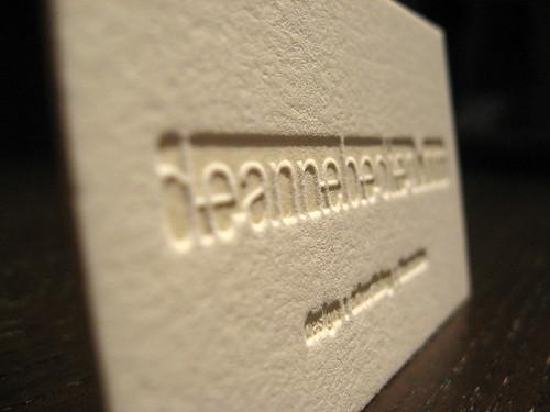 Deanne Bedier Letterpress Cards