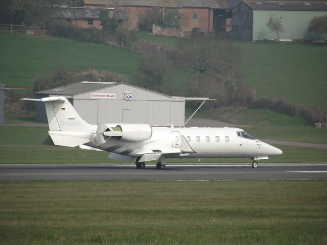 D-CHER Learjet 60 at Exeter Airport by shamu28