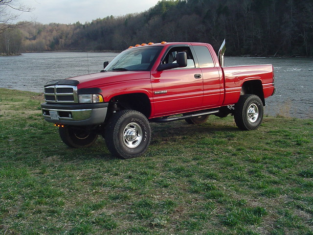 diesel dodge ram cummins stacks lifted