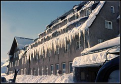 Hotel Alpenrose Post In Zurs Austria (Mark Faviell Photos) Tags: june hotel malcolm archive slide scan icicles alpenrose faviell