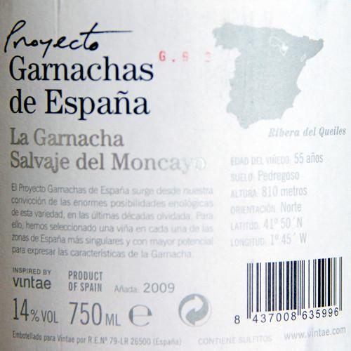 LA GARNACHA SALVAJE DEL MONCAYO - VINO DEL MES - PROYECTO GARNACHAS DE ESPAÑA - RIBERA DEL QUEILES