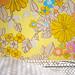 headboard- wallpaper + decoupage flowers