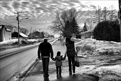noir et blanc (L-L Photography) Tags: street winter bw canada cold noir quebec hiver nb invierno  blanc froid ambiance