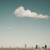 (shaymurphy) Tags: ireland sky people girl clouds square 50mm nikon running minimal format minimalism nikkor f18 seafront wicklow bray irlanda irlande irska 爱尔兰 irlandia أيرلندا d700 ایرلند