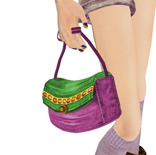!1mm***  odekakebag pink+green(LB)