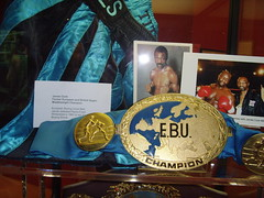 Boxing exhibition - James Cook MBE Hackney (bbcworldservice) Tags: world great bbc service olympics expectations 2012 hackneyeastlondon
