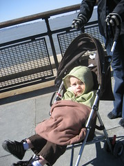 Waiting in line for the ferry