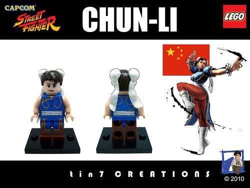 Custom minifig #09 - Chun-Li custom minifg