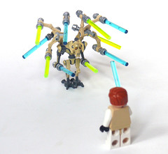 Impressed Yet? (Oky - Space Ranger) Tags: star funny lego general obi lightsaber wars wan clone kenobi grievous