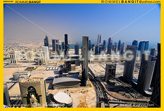 Dafna Area skyline Doha Qatar. Photo by ROMMELBANGIT ref#_RTB1598 (ROMMEL BANGIT D319) Tags: blue panorama building tower vertical skyline architecture buildings landscape design office cityscape postmodern towers wide engineering aerial architectural explore highrise doha qatar westbay architecturaldesign consultancy nationalgeographics megastructures thetornado qatarliving d319 nikond300 buildingoffice qatararchitecture mzandpartners rommelbangit tornadotower heartofdoha qatarnavigationtower qatarprojects qipcoofficetower marwanzgheib rommelbangityahoocom fifaworldcup2022 buildingsinqatar daddypro toweroffice dohafinancialandcommercialdistrict blueprintforthefuture newdohadistrict newdistrictdoha rareandseldomseenphotographicviewpoint newdistrictofdoha rommelbangitimages mzarchitects