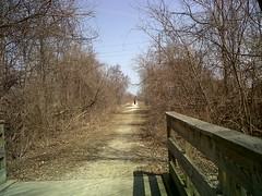 Clinton River Trail, looking Northeast, Pontiac. (Dave Garvin) Tags: railroad river michigan clinton air trails line trail rails pontiac
