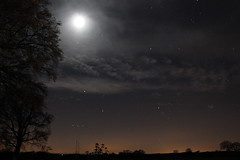 The Night's Sky (Paddy Bartram) Tags: trees canon stars norfolk themoon canon550d