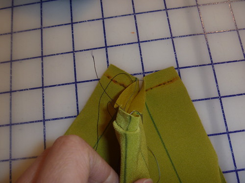 sew last ends right side together