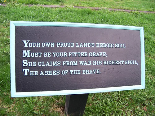 Your own proud lands heroic soil