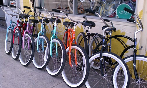 CicLAvia cruisers on sale at Flying Pigeon LA