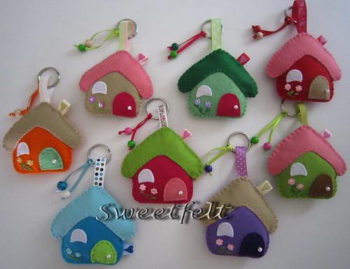 ♥♥♥ Para as chaves das nossas casinhas... by sweetfelt \ ideias em feltro