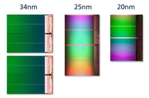 IMFT 34nm-25nm-20nm comparison