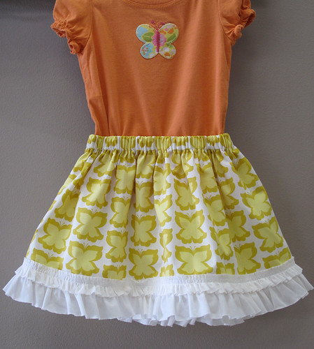 Little Girls' Twirly Easter Skirt